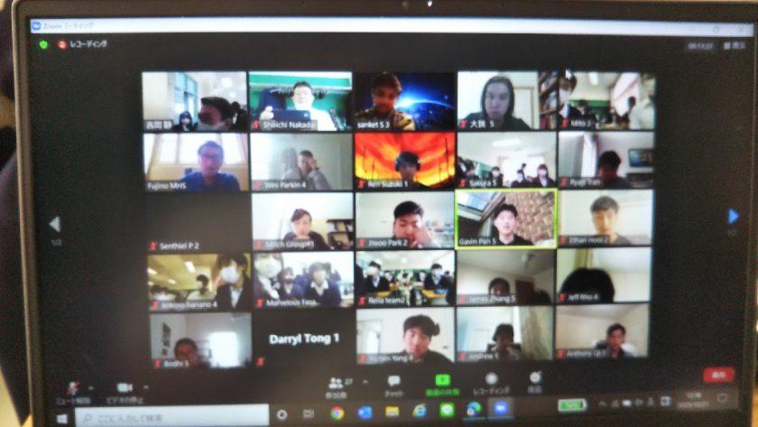 SGクラスオーストラリアの高校生とのオンライン交流会